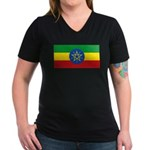 Ethiopia Women's V-Neck Dark T-Shirt