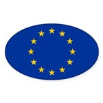 European Union Sticker (Oval 50 pk)
