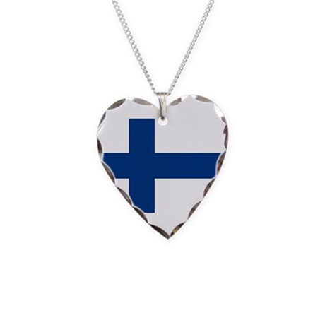 Finland Necklace Heart Charm