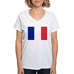 France Women's V-Neck T-Shirt