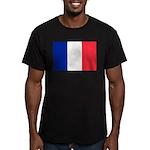 France Men's Fitted T-Shirt (dark)