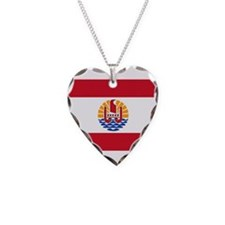 French Polynesia Necklace Heart Charm