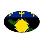 Guadeloupe 38.5 x 24.5 Oval Wall Peel