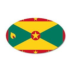 Grenada 38.5 x 24.5 Oval Wall Peel