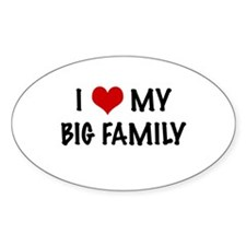 I heart my big family Oval Decal