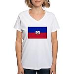 Haiti Women's V-Neck T-Shirt