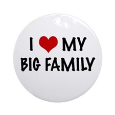 I heart my big family Ornament (Round)