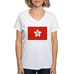 Hong Kong Women's V-Neck T-Shirt