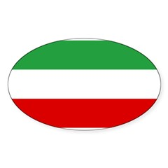 Iran Sticker (Oval 10 pk)