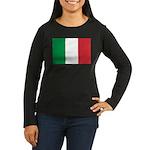 Italy Women's Long Sleeve Dark T-Shirt