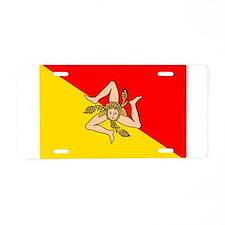 Sicily Aluminum License Plate