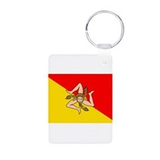 Sicily Aluminum Photo Keychain