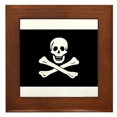 Jolly Roger Framed Tile
