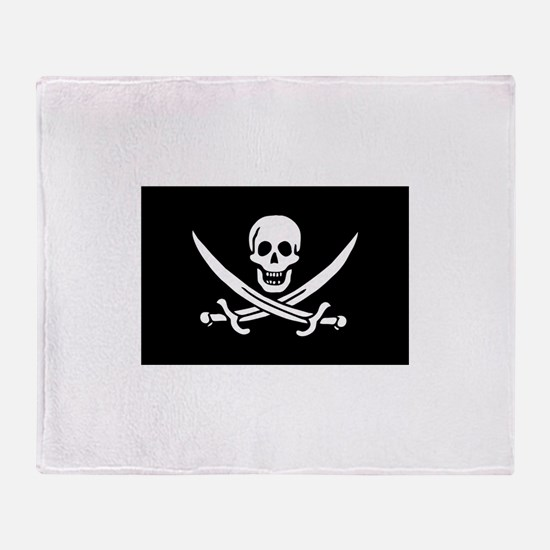 Calico Jack Rackham Jolly Rog Throw Blanket