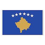 Kosovo Sticker (Rectangle 50 pk)