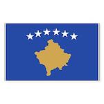 Kosovo Sticker (Rectangle 10 pk)