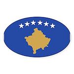 Kosovo Sticker (Oval 50 pk)