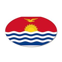 Kiribati 38.5 x 24.5 Oval Wall Peel