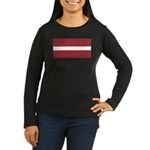Latvia Women's Long Sleeve Dark T-Shirt