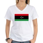 Libya Women's V-Neck T-Shirt