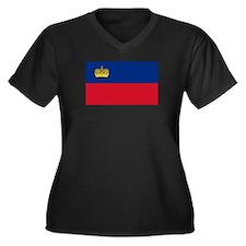 Liechtenstein Women's Plus Size V-Neck Dark T-Shir