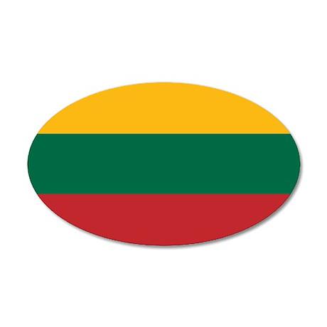 Lithuania 38.5 x 24.5 Oval Wall Peel