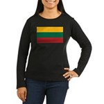Lithuania Women's Long Sleeve Dark T-Shirt