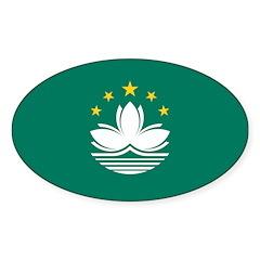 Macau Sticker (Oval 10 pk)