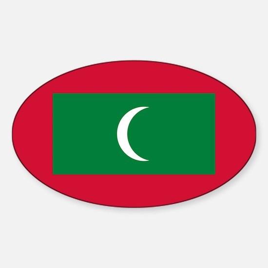 Maldives Sticker (Oval)
