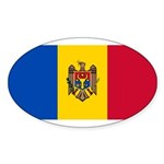 Moldova Sticker (Oval 10 pk)