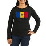 Moldova Women's Long Sleeve Dark T-Shirt