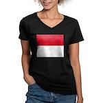 Monaco Women's V-Neck Dark T-Shirt