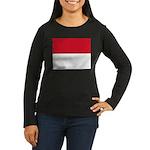 Monaco Women's Long Sleeve Dark T-Shirt