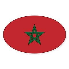 Morocco Sticker (Oval 10 pk)