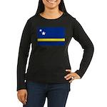 Curaçao Women's Long Sleeve Dark T-Shirt