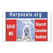 Save the seals Rectangle Decal