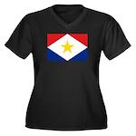 Saba Women's Plus Size V-Neck Dark T-Shirt
