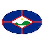 Sint Eustatius Sticker (Oval 10 pk)