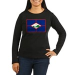 Sint Eustatius Women's Long Sleeve Dark T-Shirt