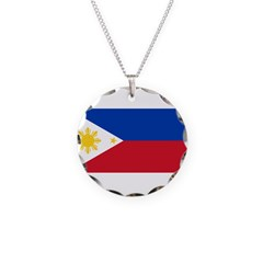 Philippines Necklace Circle Charm