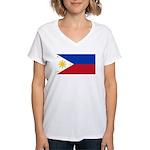 Philippines Women's V-Neck T-Shirt
