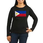 Philippines Women's Long Sleeve Dark T-Shirt