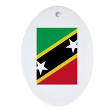 Saint Kitts and Nevis Ornament (Oval)
