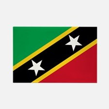 Saint Kitts and Nevis Rectangle Magnet