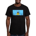 Saint Lucia Men's Fitted T-Shirt (dark)