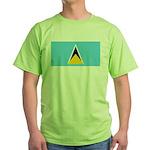 Saint Lucia Green T-Shirt