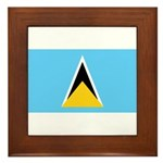 Saint Lucia Framed Tile