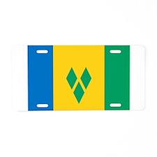 Saint Vincent and the Grenadi Aluminum License Pla