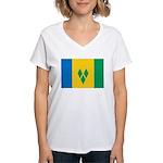 Saint Vincent and the Grenadi Women's V-Neck T-Shi