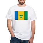 Saint Vincent and the Grenadi White T-Shirt